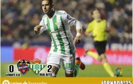 Crónica  LEV 0 – RBB 2: El Betis se acerca a Europa