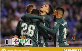 Crónica| Deportivo de la Coruña 0-1 Real Betis Balompié: Victoria ajustada en Riazor