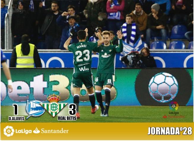 Alavés 1-3 Betis. Loren acerca el sueño europeo