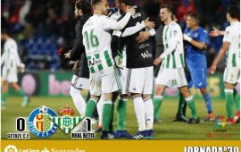 Crónica Getafe  CF 0 – Real Betis Balompié 1: El Betis tumba la puerta de Europa con oficio y fortuna