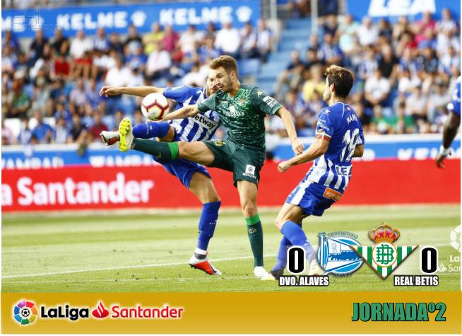 Crónica | Deportivo Alavés 0 – Real Betis Balompié 0: El Betis sigue sin carburar