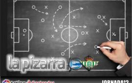La pizarra. Deportivo Alavés vs Real Betis Balompié. 2ª Jornada. Temp. 18/19