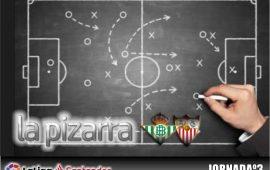 La pizarra. Real Betis Balompié. vs Sevilla F.C. 3ª Jornada. Temp. 18/19