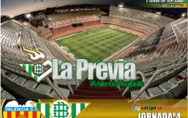 La previa| Valencia CF-Real Betis Balompié: Dar el golpe en la mesa