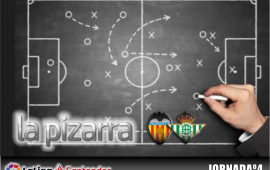 La pizarra. Valencia C.F. vs Real Betis Balompié 4ª Jornada. Temp. 18/19