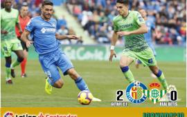 Crónica| Getafe CF 2 – Real Betis Balompié 0: El Betis se olvida de competir en Liga