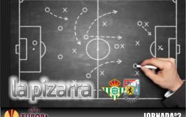 La pizarra | Real Betis vs F91 Diddeleng. Fase de grupos UEL. Temp. 18/19