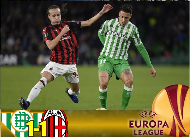Crónica | Real Betis Balompié 1-AC Milan 1: Volvió el Betis de las dos caras