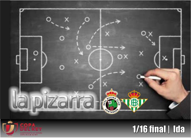 La pizarra | Racing vs Real Betis. Dieciseisavos ida. Copa del rey. Temp. 18/19