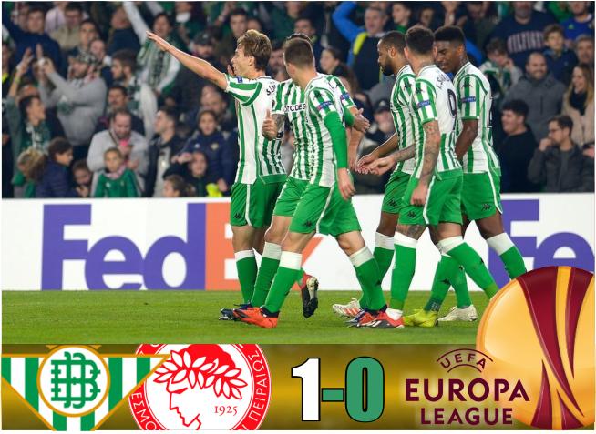Crónica | Real Betis Balompié 1-Olympiacos 0: El Real Betis hace los deberes en Europa