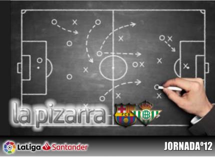 La pizarra | F.C. Barcelona vs Real Betis. Jornada 12. Temp. 18/19