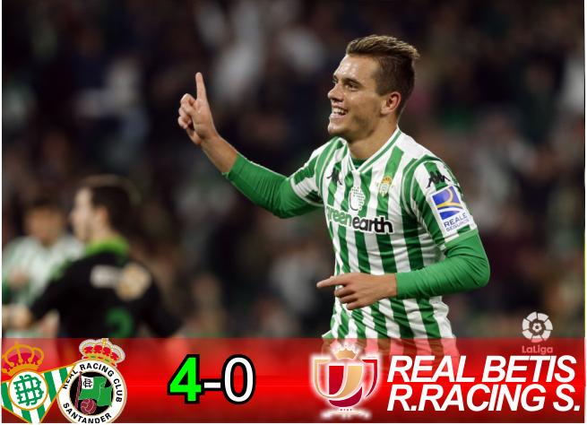Crónica   Real Betis Balompié 4-Real Racing Club de Santander: A octavos por la vía rápida
