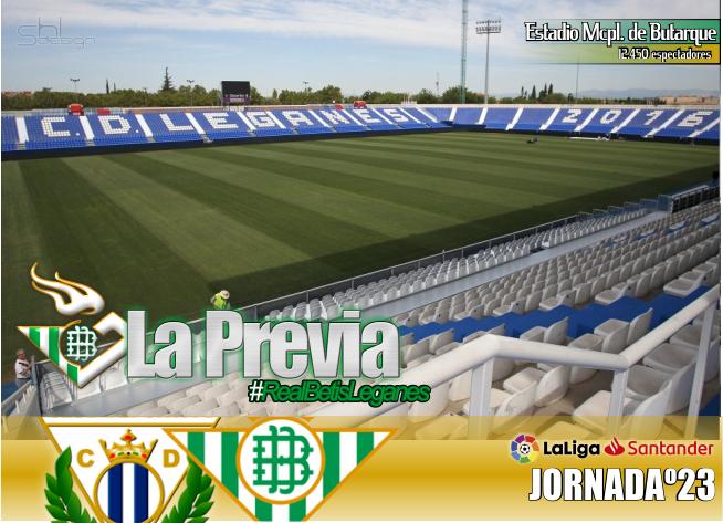 Previa | Leganés CD-Real Betis Balompié; Pasar página