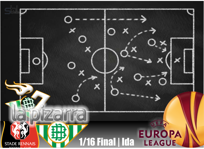 La pizarra | Stade Rennais vs Real Betis. 1/16 UEL. Ida.