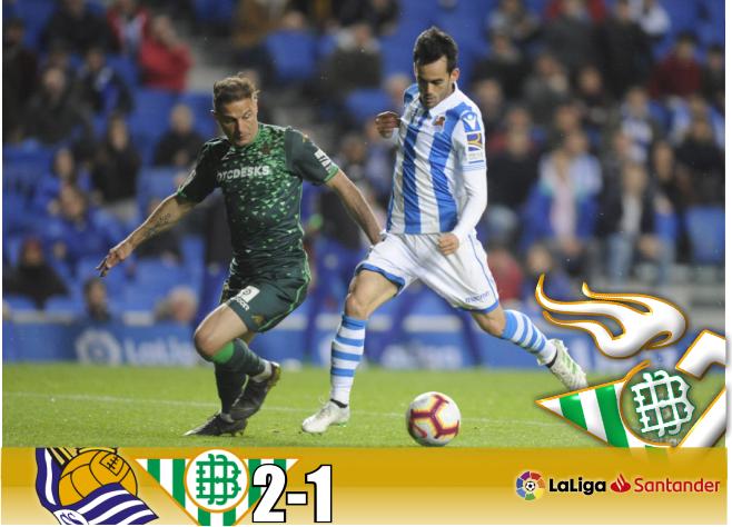 Crónica | Real Sociedad 2-Real Betis Balompié 1: En caída libre