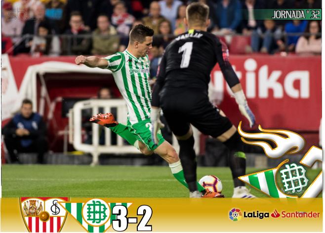 Crónica   Sevilla FC 3-Real Betis Balompié: 2; Errores en ataque y en defensa condenan al Betis en el derbi