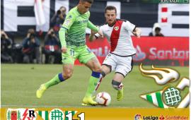 Crónica | Rayo Vallecano 1-Real Betis Balompié 1: Europa se escapa