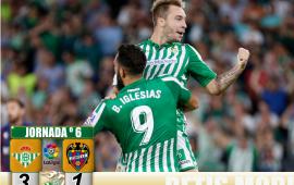 Crónica   Real Betis Balompié 3 – Levante UD  1; Joaquín y Loren certifican una nueva remontada