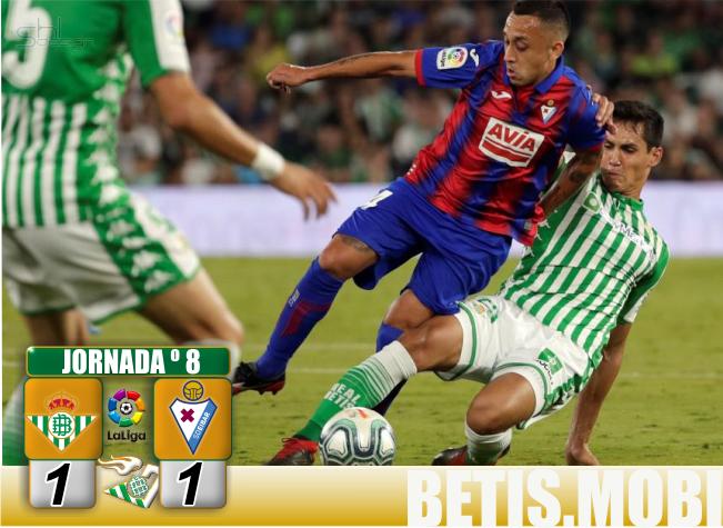 Crónica | Real Betis Balompié 1-SD Éibar 1: Un guion que se repite