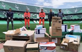El Real Betis, en lucha contra el coronavirus