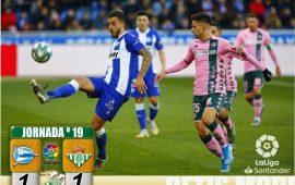 Crónica | CD Alavés 1 – Real Betis Balompié 1 : Empate para abrir el año