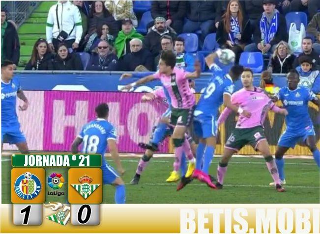 Crónica   Getafe 1-Real Betis Balompié 0: Cruel desenlace en Madrid