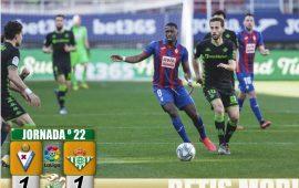 Crónica | SD Éibar 1 – Real Betis Balompié 1: ¿Adiós a Europa?