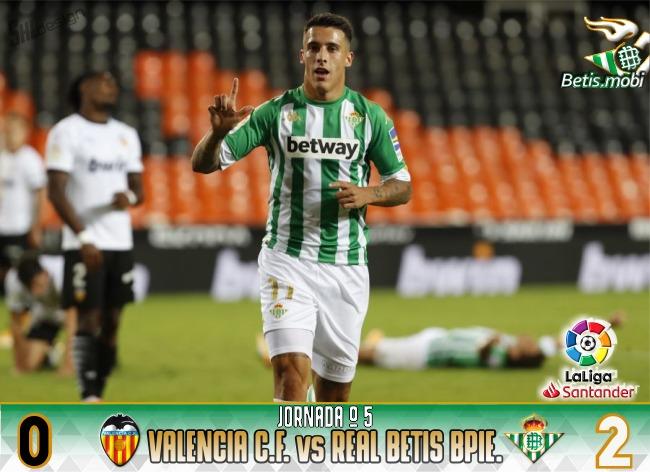 Crónica | Valencia CF 0 – Real Betis Balompié 2 | Vuelta a la senda del triunfo