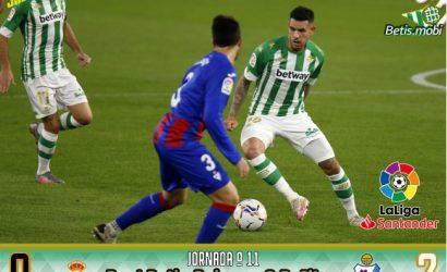 Crónica | Real Betis Balompié 0 – SD Éibar 2: Otra noche para olvidar